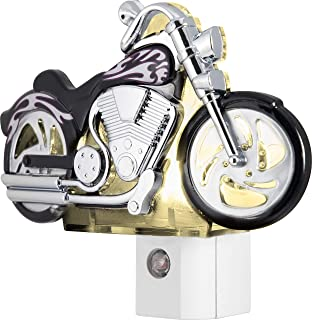 GE LED Motorcycle Night Light, Plug-In, Dusk-to-Dawn Sensor, Auto On/Off,..