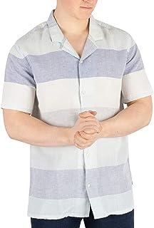 Levi's Hombre Camisa De Manga Corta Cubano, Azul