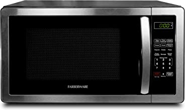 Farberware 1.1 Cu. Ft. Stainless Steel Countertop Microwave Oven With 6 Cooking Programs,..