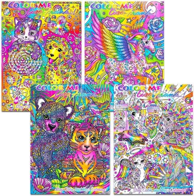 Lisa Frank Adult Coloring Book Set -- 11 Premium Lisa Frank Coloring and  Activity Books for Adults