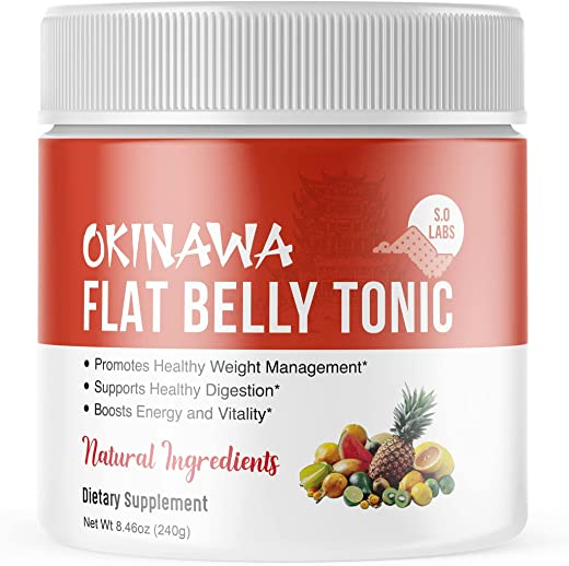 Okinawa Flat Belly Tonic Powder Drink Japan Supplement Reviews (1 Pack)