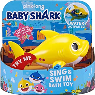 Robo Alive Junior Baby Shark Battery-Powered Sing and Swim Bath Toy by ZURU – Baby..