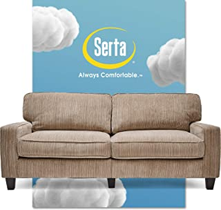 Serta Palisades Upholstered Sofas for Living Room Modern Design Couch, Straight Arms,..