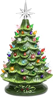 Best Choice Products 15in Pre-lit Hand-Painted Ceramic Tabletop Christmas Tree Holiday..