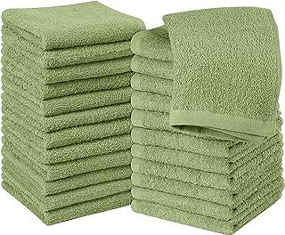 Utopia Towels Cotton Sage Green Washcloths Set – Pack of 24-100% Ring Spun Cotton,..