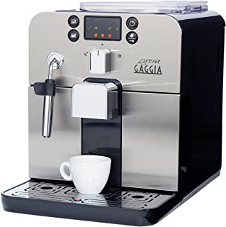 Gaggia Brera Super Automatic Espresso Machine in Black. Pannarello Wand Frothing for..