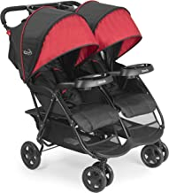 Kolcraft Cloud Plus Lightweight Double Stroller with Reclining Seats & Extendable..