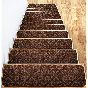 Carpet Stair Treads Set Of 13 Non Slip Skid Rubber Runner Mats Or   Indoor Outdoor Stair Treads   Rubber Cal   Slip Backing   Waterhog   Nance Industries   Ellsworth Indoor