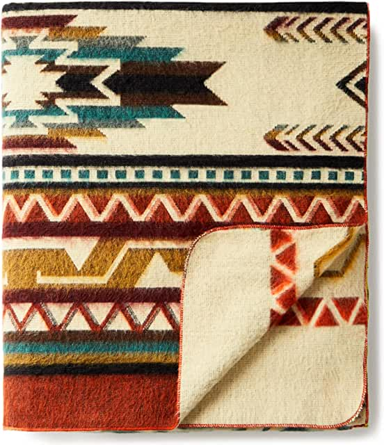 """Ecuadane Large Southwestern Woven Blanket, Crafted in Ecuador by Local Artists, Size 210"""" x 235"""" Costco Pendleton Blankets"""