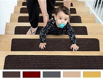 Edenproducts Patent Pending Non Slip Carpet Stair Treads Set Of   Carpet For Stairs Amazon   Beige   Non Slip   Flooring   Self Adhesive   Carpet Tiles