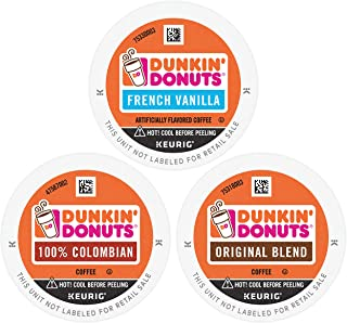 Dunkin' Donuts  Best Sellers Coffee Variety Pack, 60 K Cups for Keurig Coffee Makers..