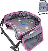 Moditty | Kids Travel Tray Bundle with Back Seat Car Organizer | Car Seat Lap Tray for..