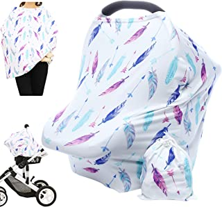 Hicoco Nursing Cover Carseat Canopy – Baby Breastfeeding Cover, Car Seat Covers for..