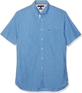 Tommy Hilfiger Co/Li Micro Print Shirt S/S, Camisa para Hombre