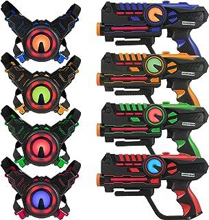 ArmoGear Laser Tag – Laser Tag Guns with Vests Set of 4 – Multi Player Laser Tag Set..