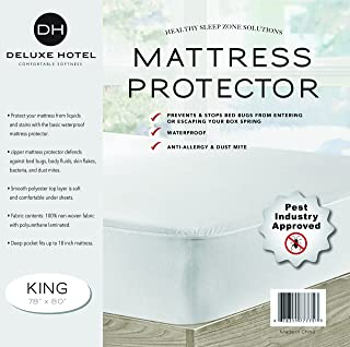 Ultimate Bed Bug Blocker Zippered Waterproof Mattress Protector – 10 YEAR WARRANTY! (King)