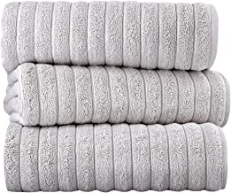 Classic Turkish Towels Luxury Bath Towel Set – Soft and Thick Oversized Ribbed..
