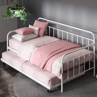 Zinus FlorenceTwin Daybed andTrundleFrame Set / Premium Steel Slat Support / Daybed..