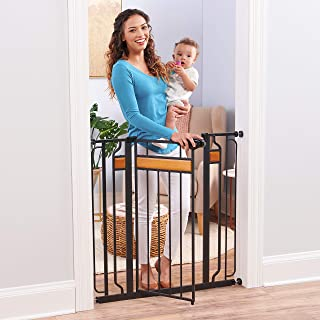 Regalo Home Accents Extra Tall and Wide Baby Gate, Bonus Kit, Includes Décor Hardwood,..