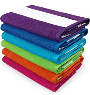 Kaufman – Cabana Terry Loop Towel 6-Pack – 32in x 62in