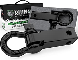 Rhino USA Shackle Hitch Receiver, Best Towing Accessories for Trucks & Jeeps, Connect..