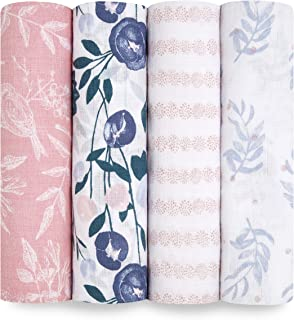 aden + anais Essentials Swaddle Blanket, Muslin Blankets for Girls & Boys, Baby..