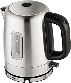 AmazonBasics Stainless Steel Portable Fast, Electric Hot Water Kettle for Tea and Coffee,..