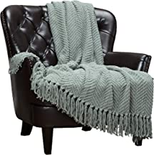 Chanasya Textured Knitted Super Soft Throw Blanket With Tassels Cozy Plush Lightweight..