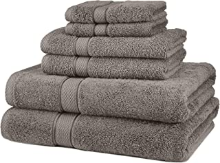 Pinzon 6 Piece Blended Egyptian Cotton Bath Towel Set – Grey