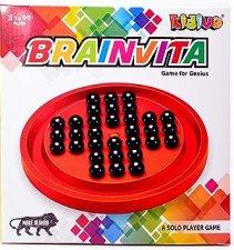 Kidivo Brainvita Mini with Pearl Finish Marbles (Kids Birthday Return Gift Items)