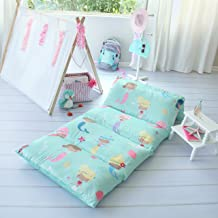 Kid's Floor Pillow Bed Cover – Use as Nap Mat, Portable Toddler Bed..