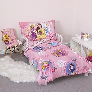 Disney Pretty Princess Toddler Bed, 4 Piece Set, Pink