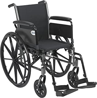 Drive Medical Cruiser III Light Weight Wheelchair with Various Flip Back Arm Styles and..