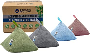 4 Pack of 200g Naturally Activated Bamboo Charcoal Air Purifying Bags | Natural Home..