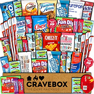 CraveBox Care Package (45 Count) Snacks Food Cookies Granola Bar Chips Candy Ultimate..