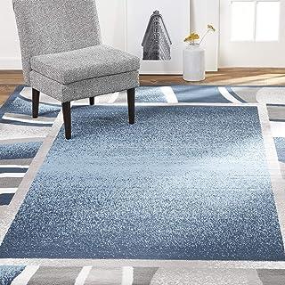 "Home Dynamix Lyndhurst Rotana Modern Area Rug, Contemporary Blue/Gray/Ivory 5'2""x7'4"""