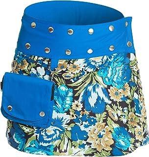 Minifalda en Colores con Botones automáticos
