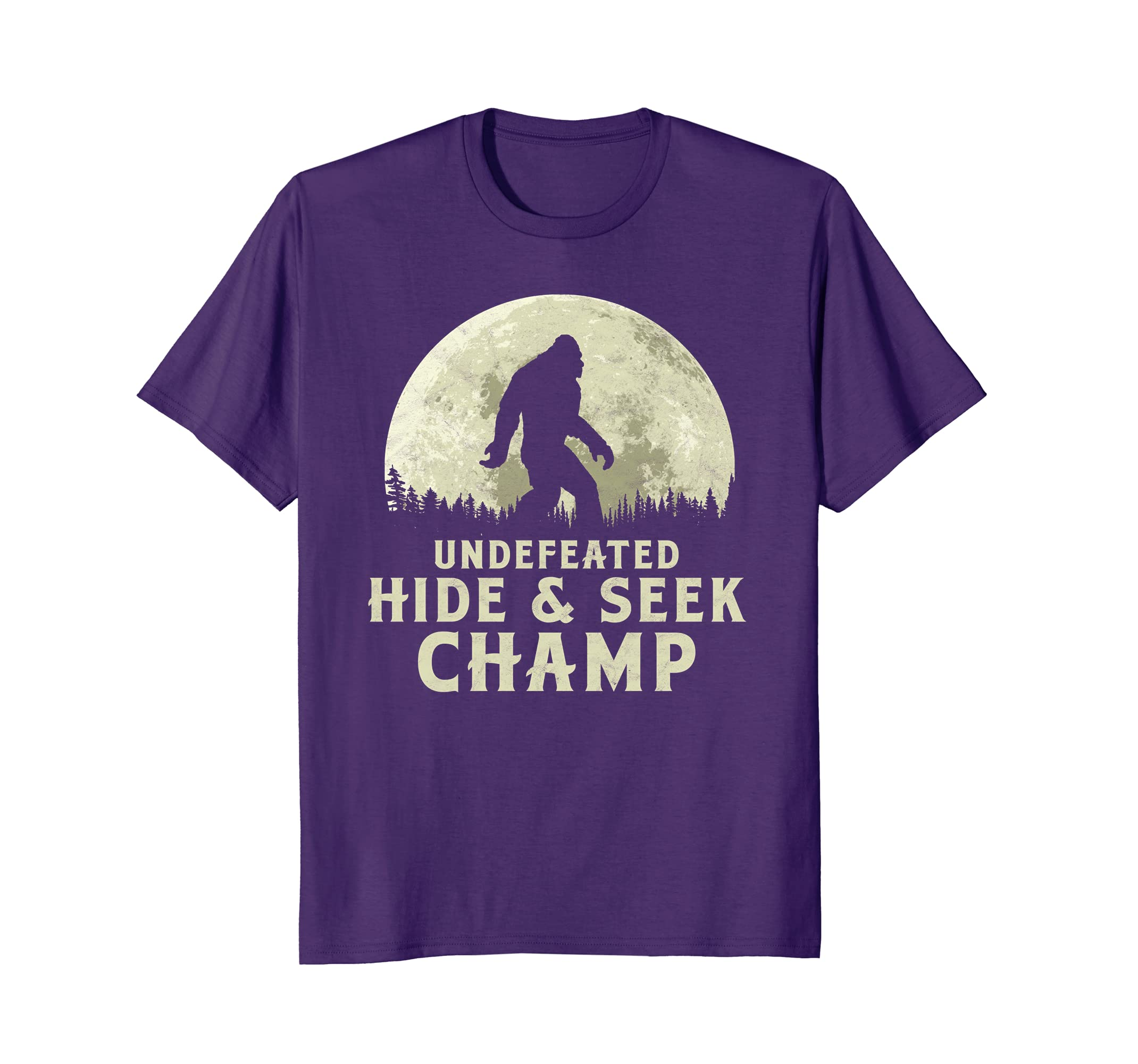 Amazoncom Undefeated Hide Seek Champ Bigfoot Moon T