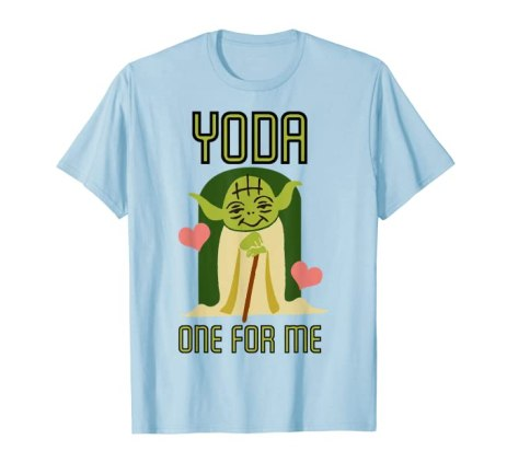 Last Minute Valentine's Day Prime Eligible Gifts - Star Wars T-shirt for Valentine's Day - Yoda one for me