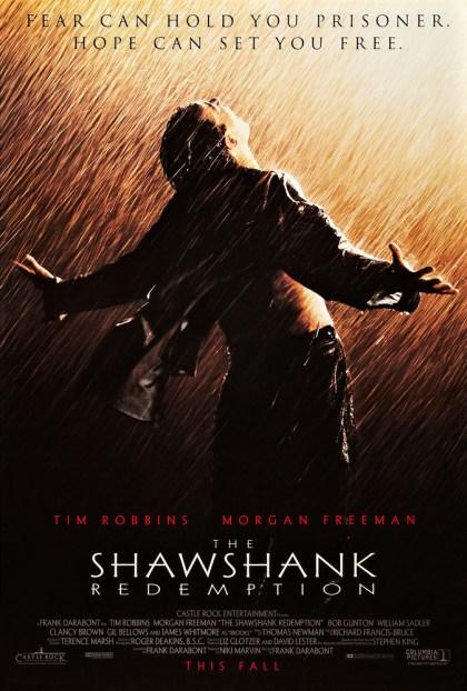 Morgan Freeman, Tim Robbins, Clancy Brown, Gil Bellows, William Sadler, and Bob Gunton in The Shawshank Redemption (1994)