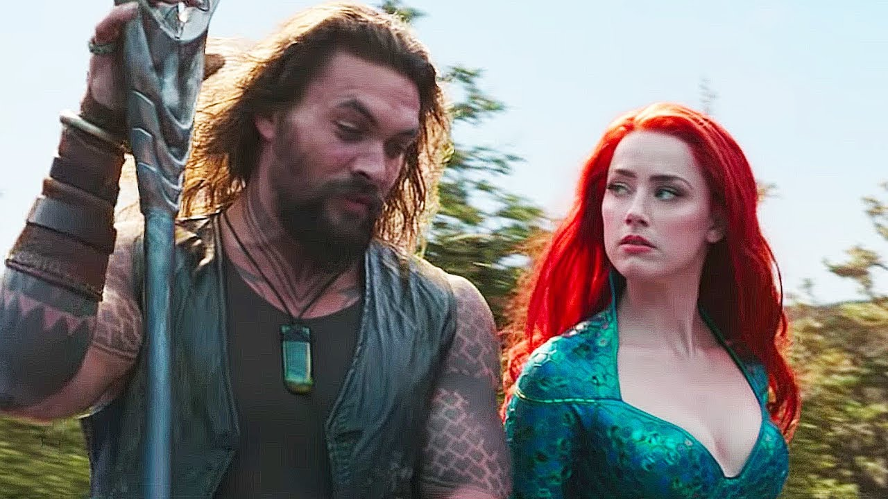 Jason Momoa and Amber Heard / Aquaman / Warner Bros. Pictures. © 2019. All rights reserved.