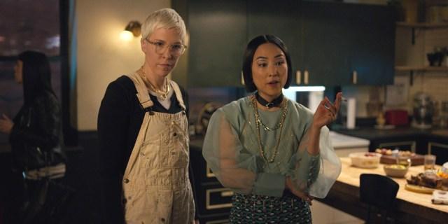 Greta Lee and Rebecca Henderson in Russian Doll (2019)