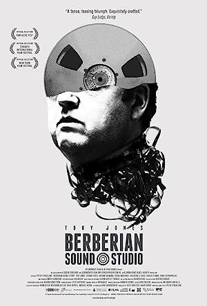 Poster do filme - Berberian Soud Studio - Homem de mais de 40 anos, fitas de vídeo adornam sua cabeça