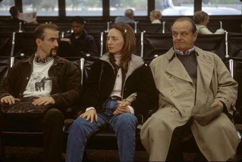 Jack Nicholson, Dermot Mulroney, and Hope Davis in About Schmidt (2002)