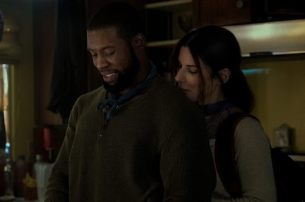 Sandra Bullock and Trevante Rhodes in Bird Box (2018)
