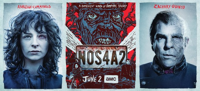 Zachary Quinto and Ashleigh Cummings in NOS4A2 (2019)