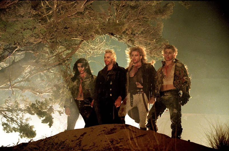Kiefer Sutherland, Brooke McCarter, Alex Winter, and Billy Wirth in The Lost Boys (1987)