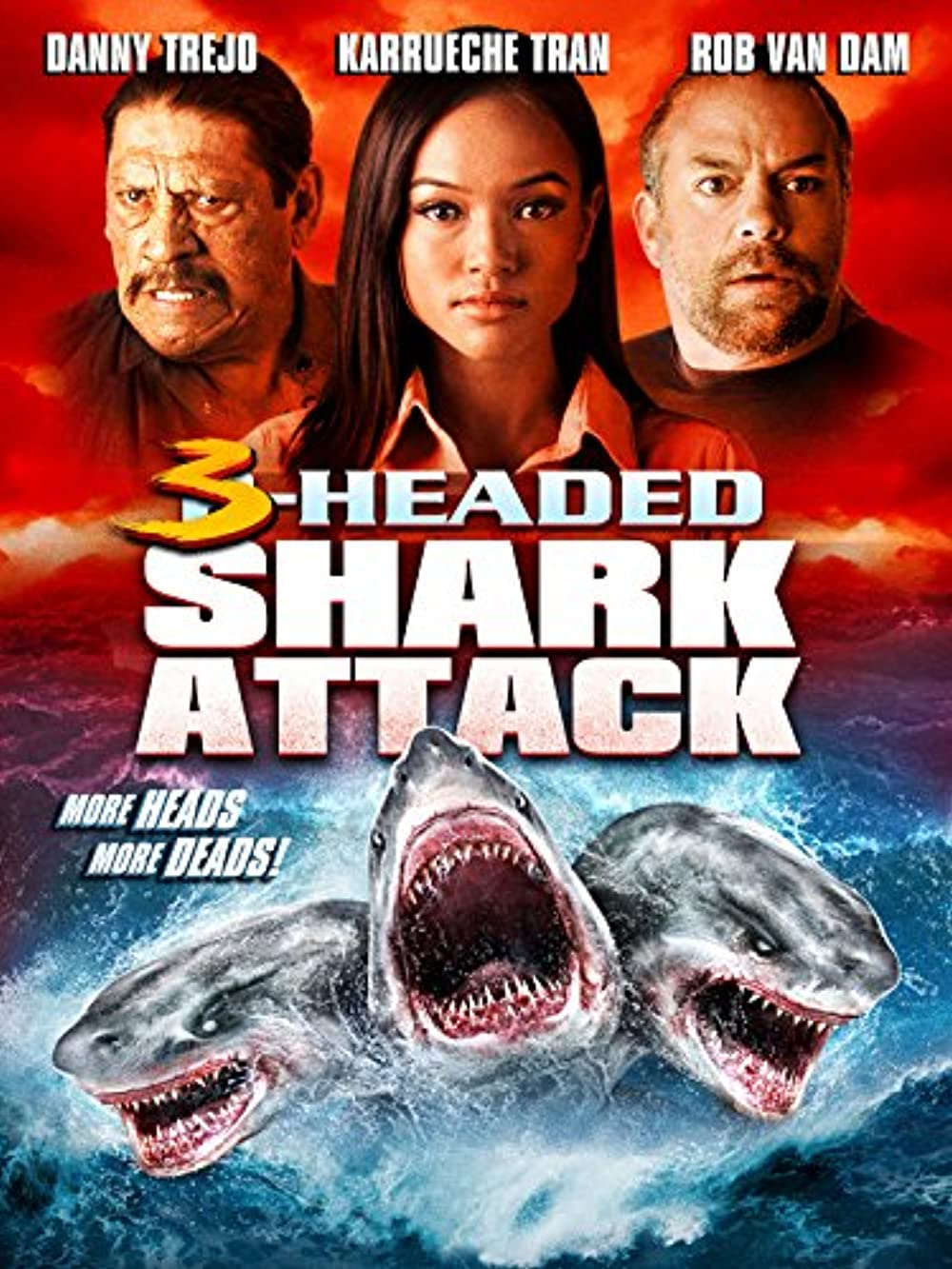 3 Headed Shark Attack 2015 Dual Audio 480p |720p BluRay [Hindi ORG + English]  x264 AAC 400MB |800MB Download