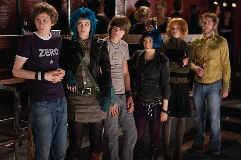 Michael Cera, Alison Pill, Mark Webber, Mary Elizabeth Winstead, Johnny Simmons, and Ellen Wong in Scott Pilgrim vs. the World (2010)