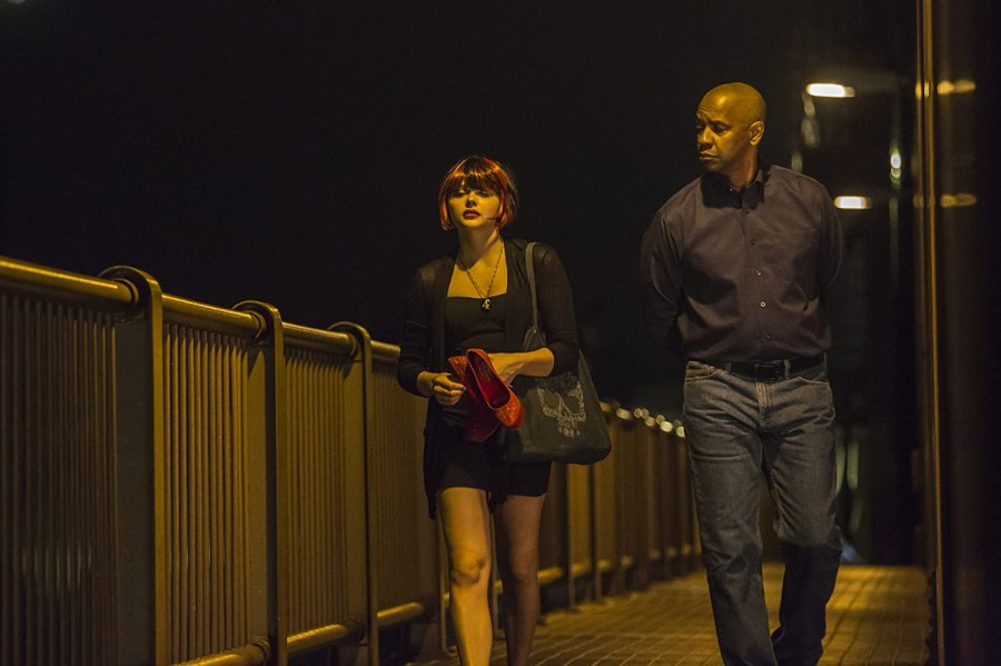 Denzel Washington and Chloë Grace Moretz in The Equalizer (2014)